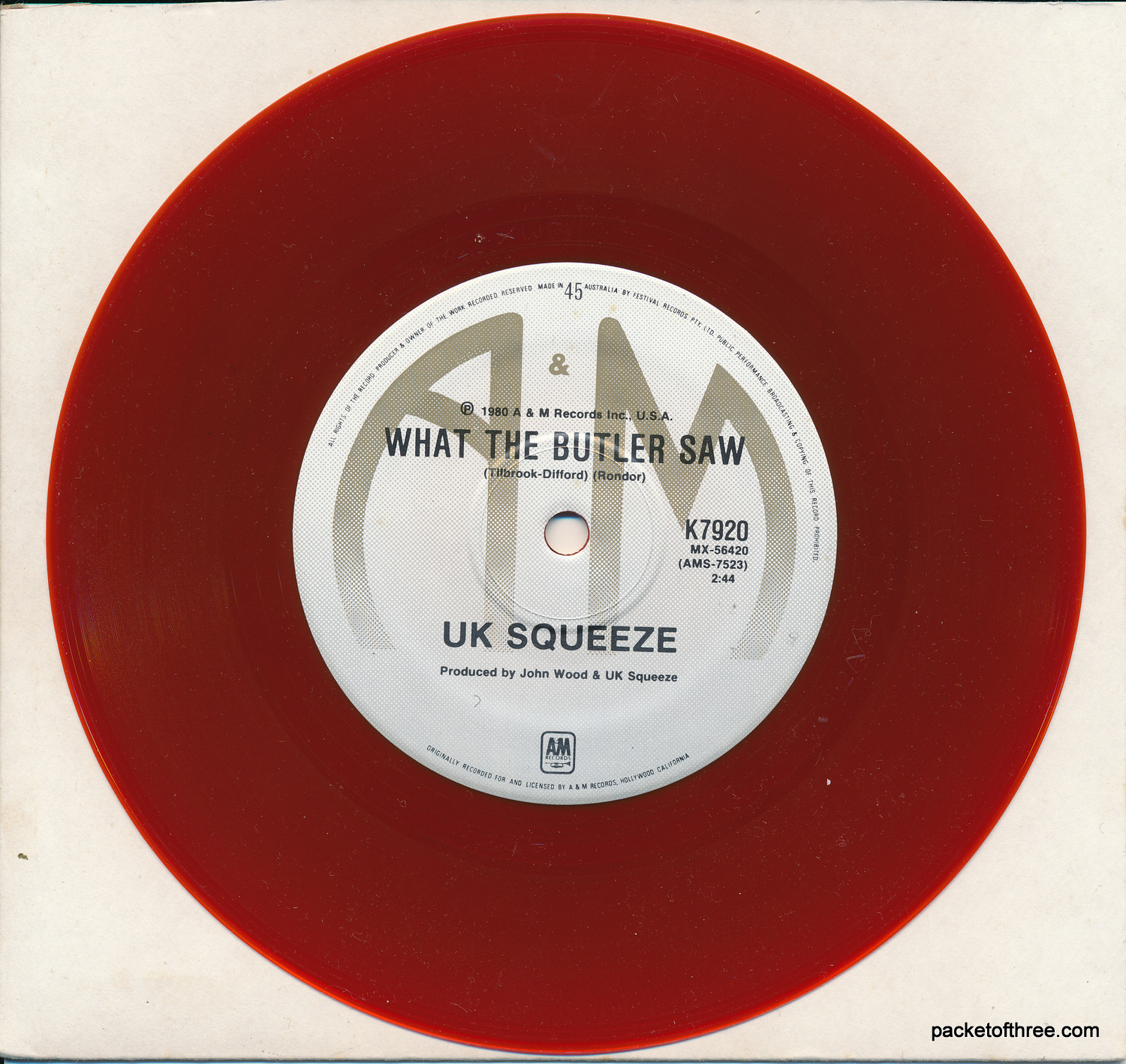 Pulling Mussels (From the Shell) - Austrailia - dark red vinyl - 7""