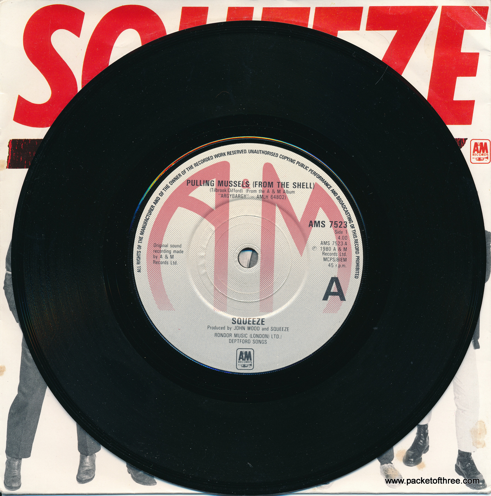 """Pulling Mussels (From the Shell) - UK - 7"""" - picture sleeve"""