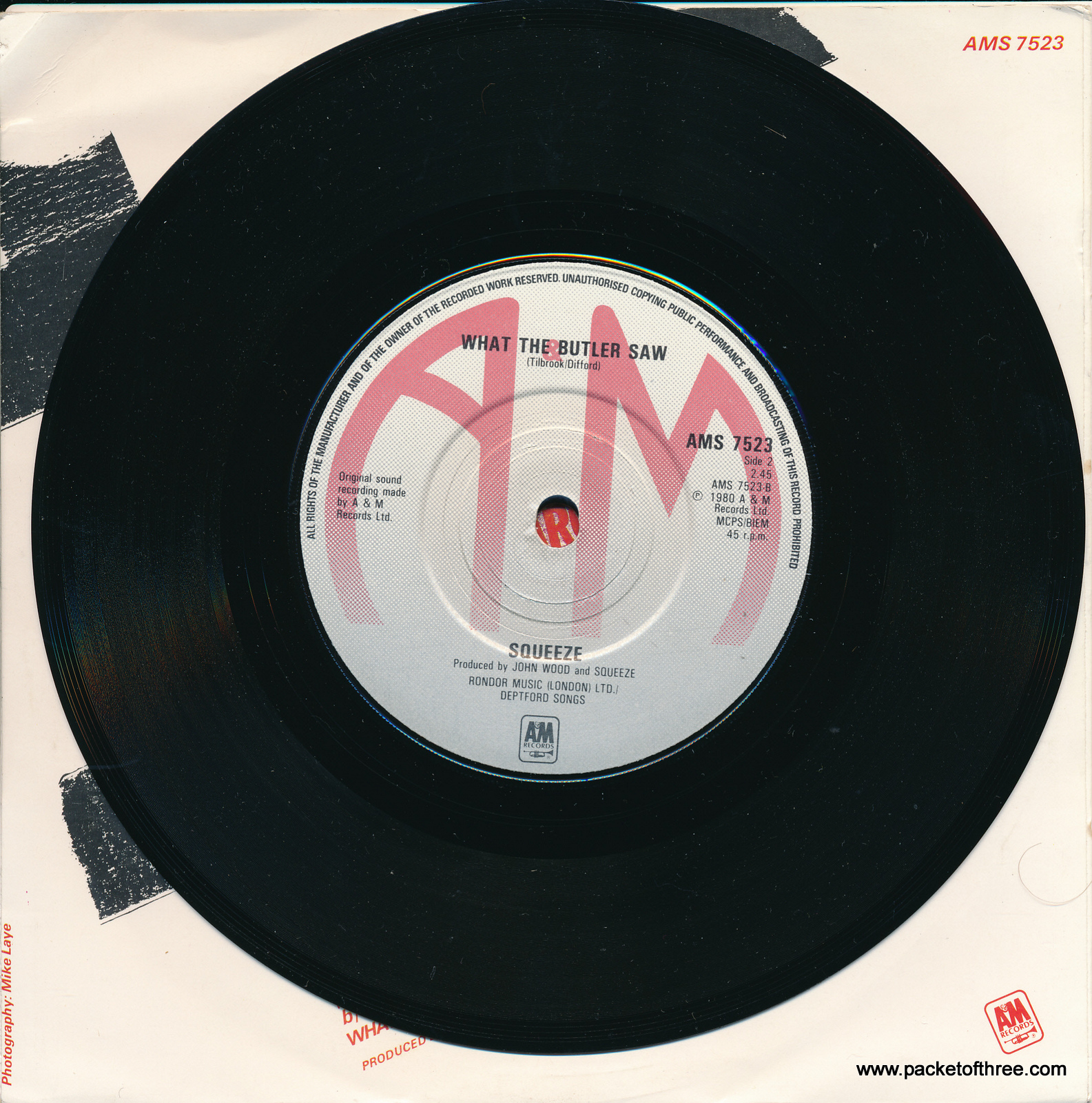 "Pulling Mussels (From the Shell) - UK - 7"" - picture sleeve"