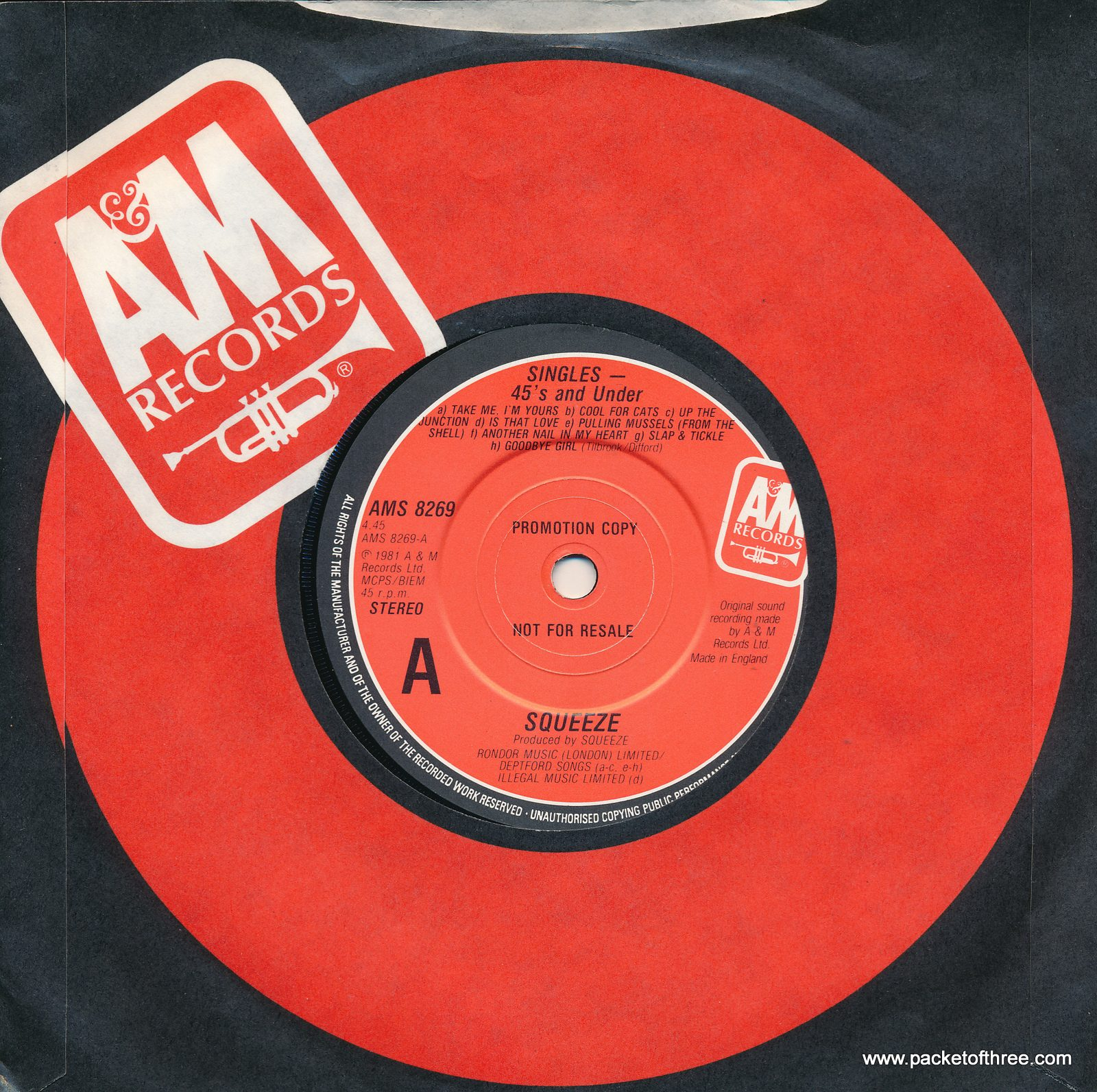 Singles 45s And Under UK promotional copy