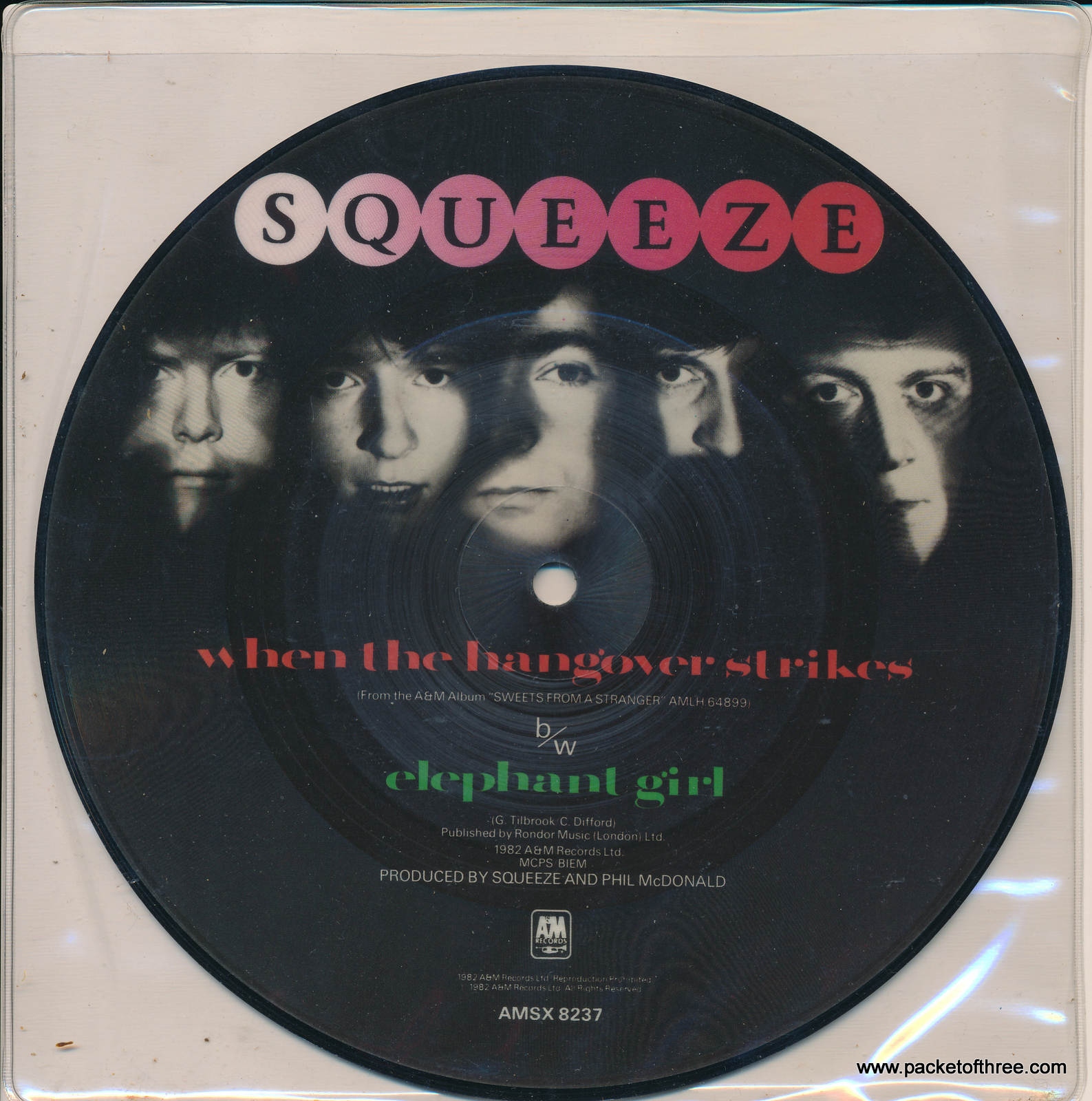 """Squeeze - When the Hangover Strikes - 7"""" - picture disc"""