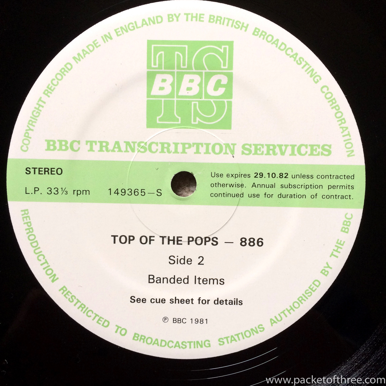 Top of the Pops 886 - packetofthree