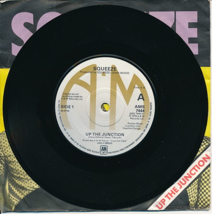 """Up the Junction - UK 7"""" - picture sleeve - brown labels"""