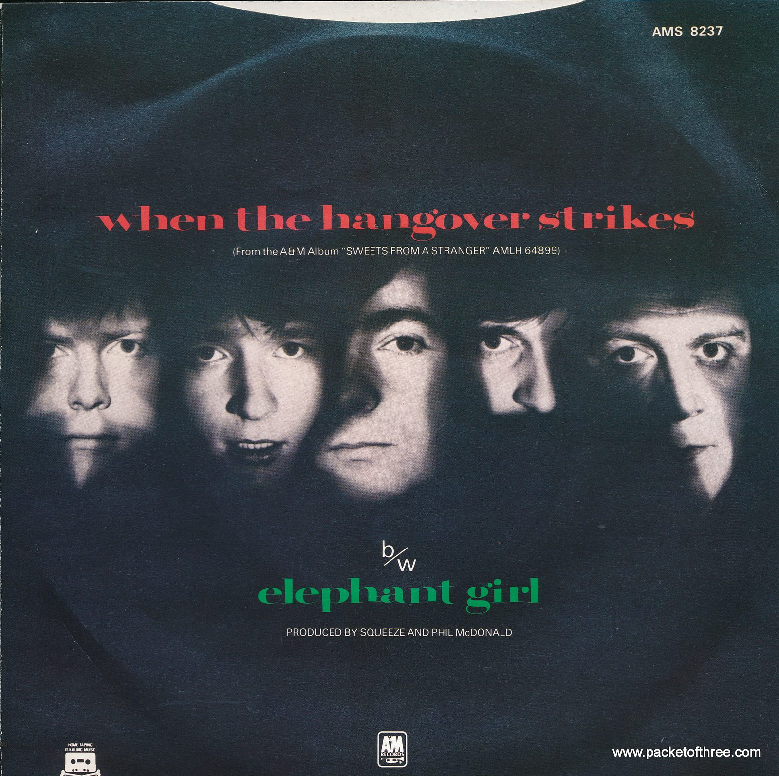 When The Hangover Strikes UK picture sleeve