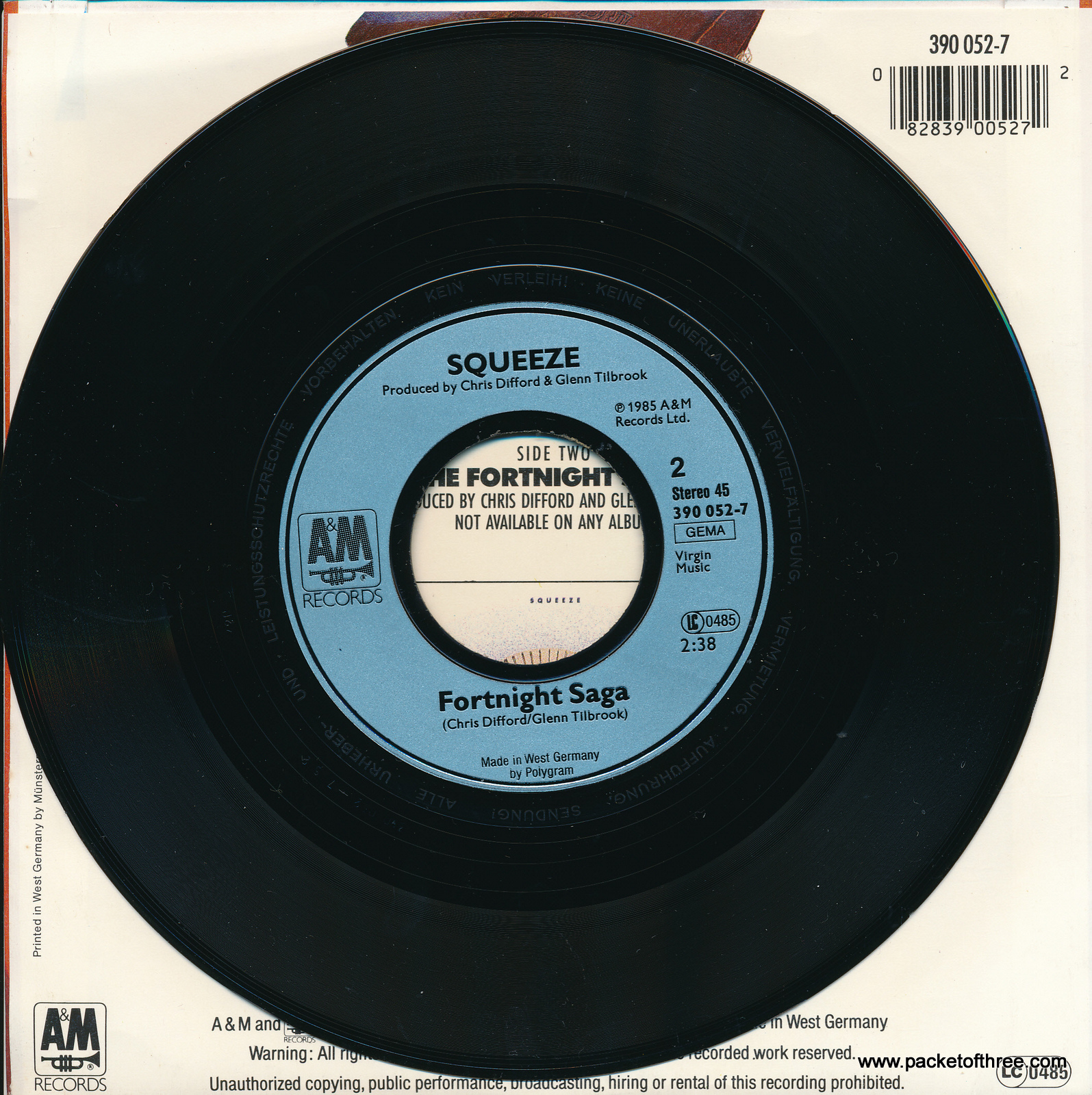 """Squeeze - By Your Side - Germany - 7"""" - picture sleeve"""