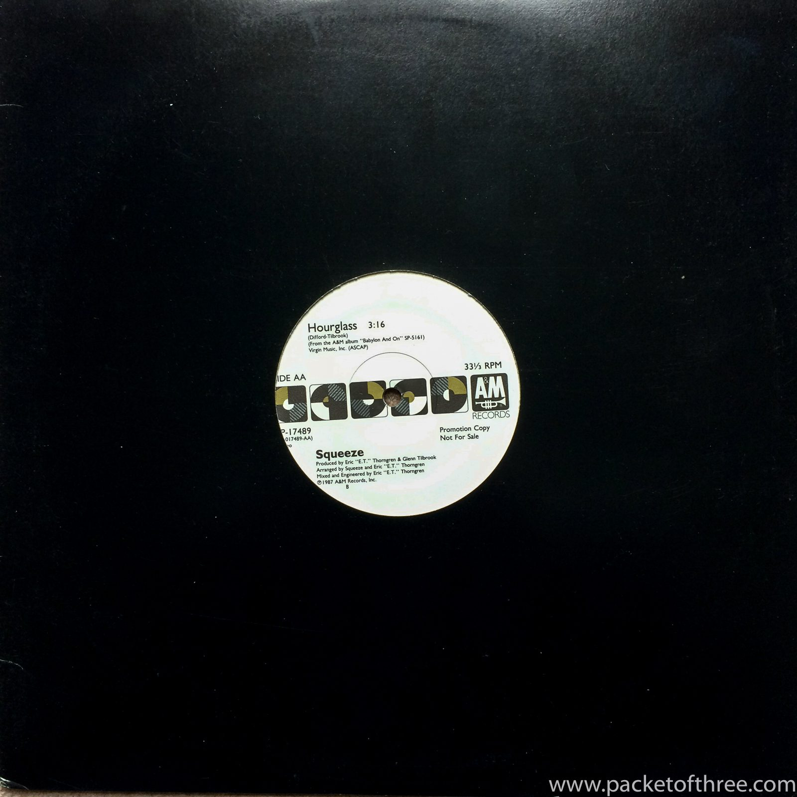 "Squeeze - Hourglass - USA - 12"" - promo"