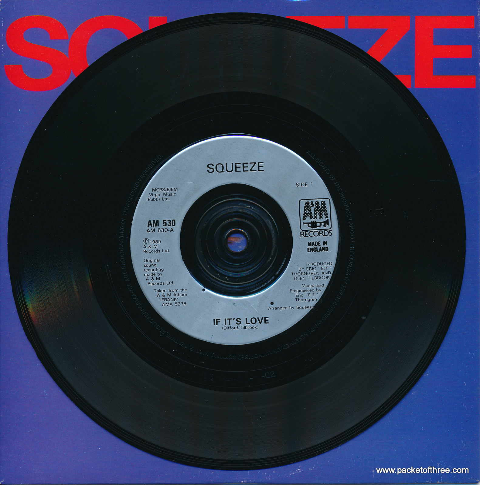 """If It's Love - UK - 7"""" - picture sleeve"""
