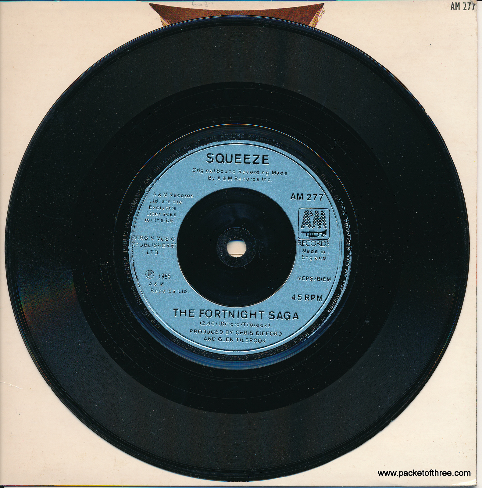"Squeeze - No Place Like Home - UK - 7"" - picture sleeve"