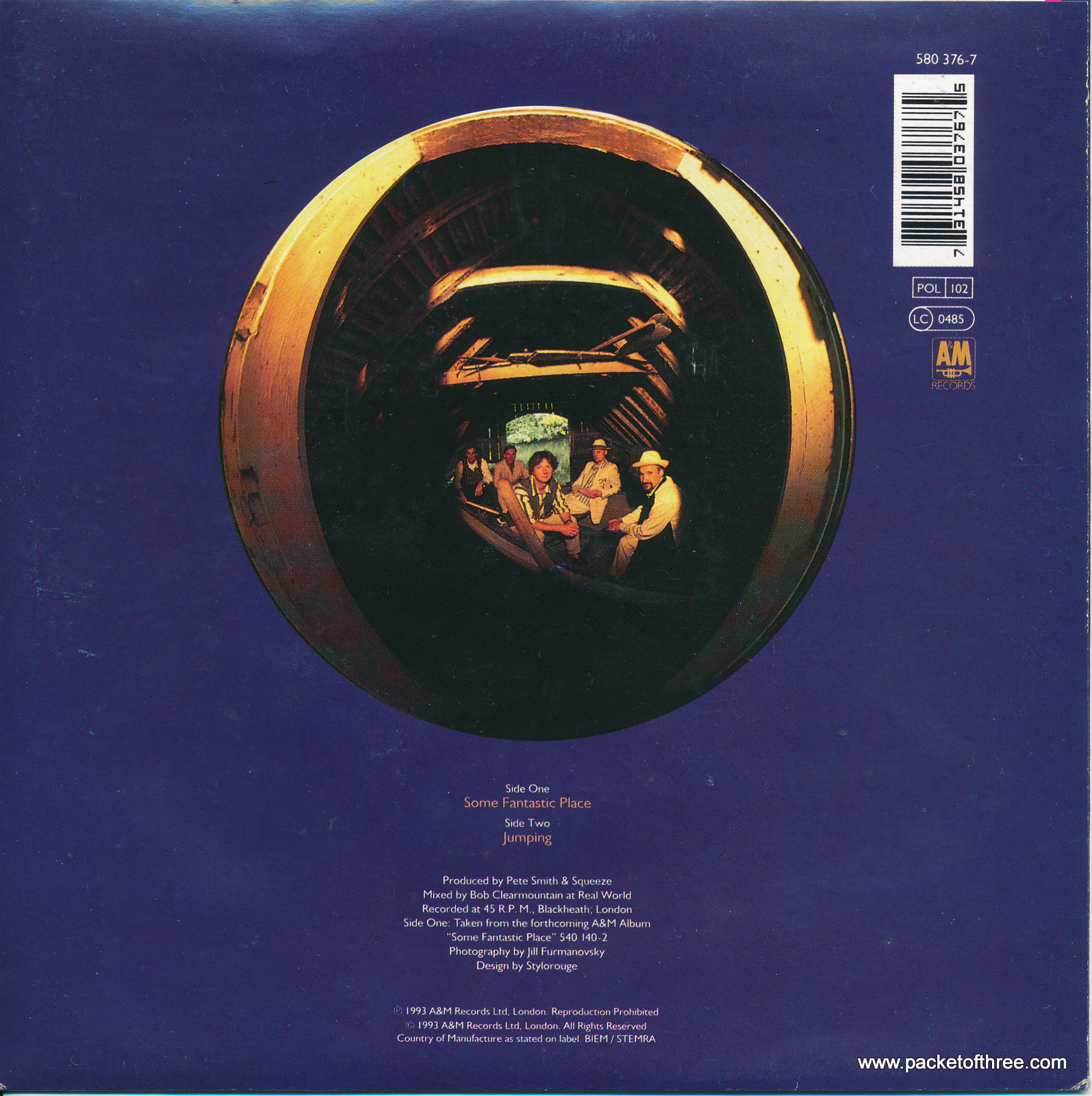 """Some Fantastic Place - UK - 7"""" - picture sleeve"""