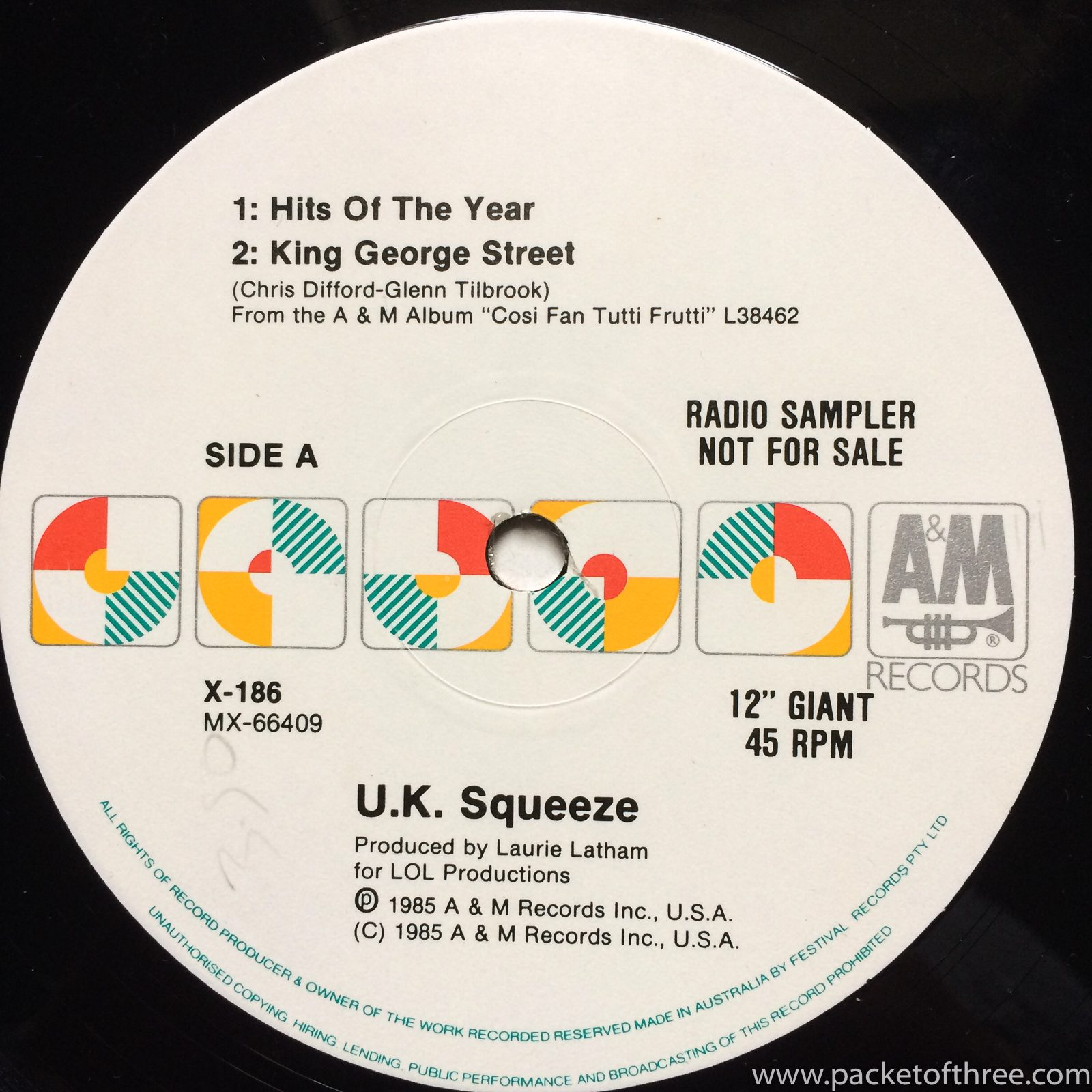 Squeeze - Hits of the Year - Australia - promo
