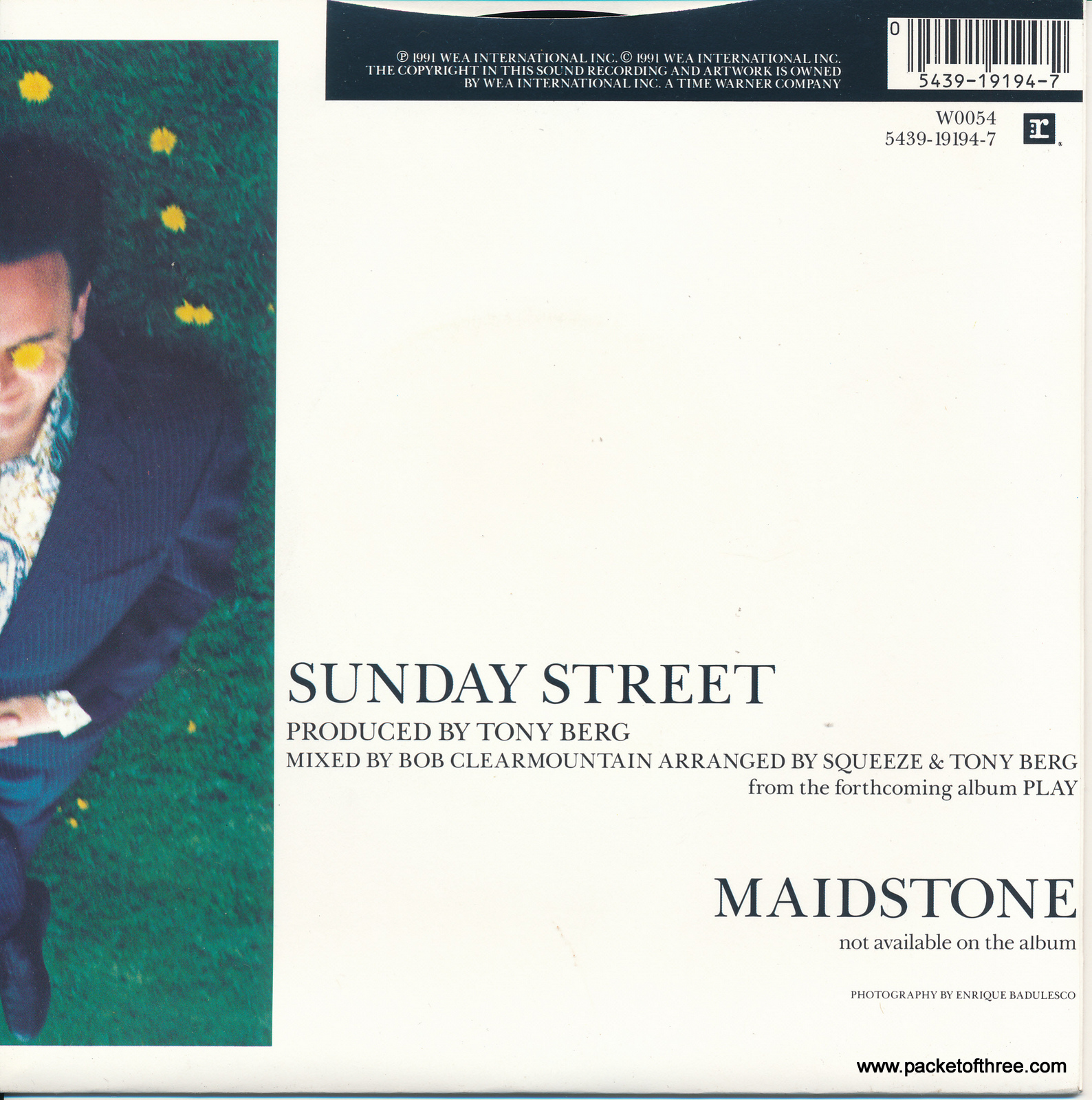 "Sunday Street - 7"" - UK - picture sleeve"