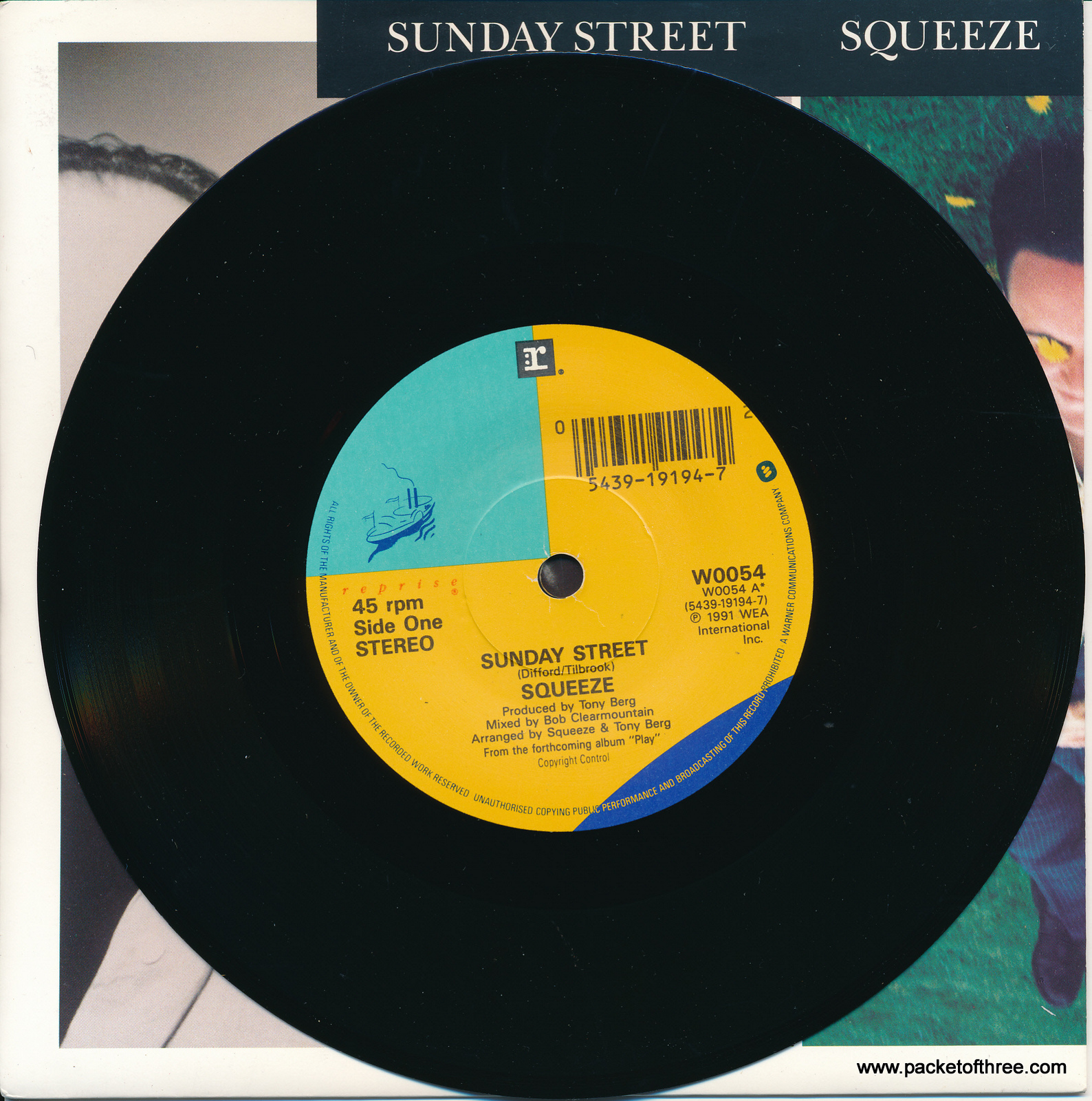 "Sunday Street - UK - 7"" - promotional copy - picture sleeve"