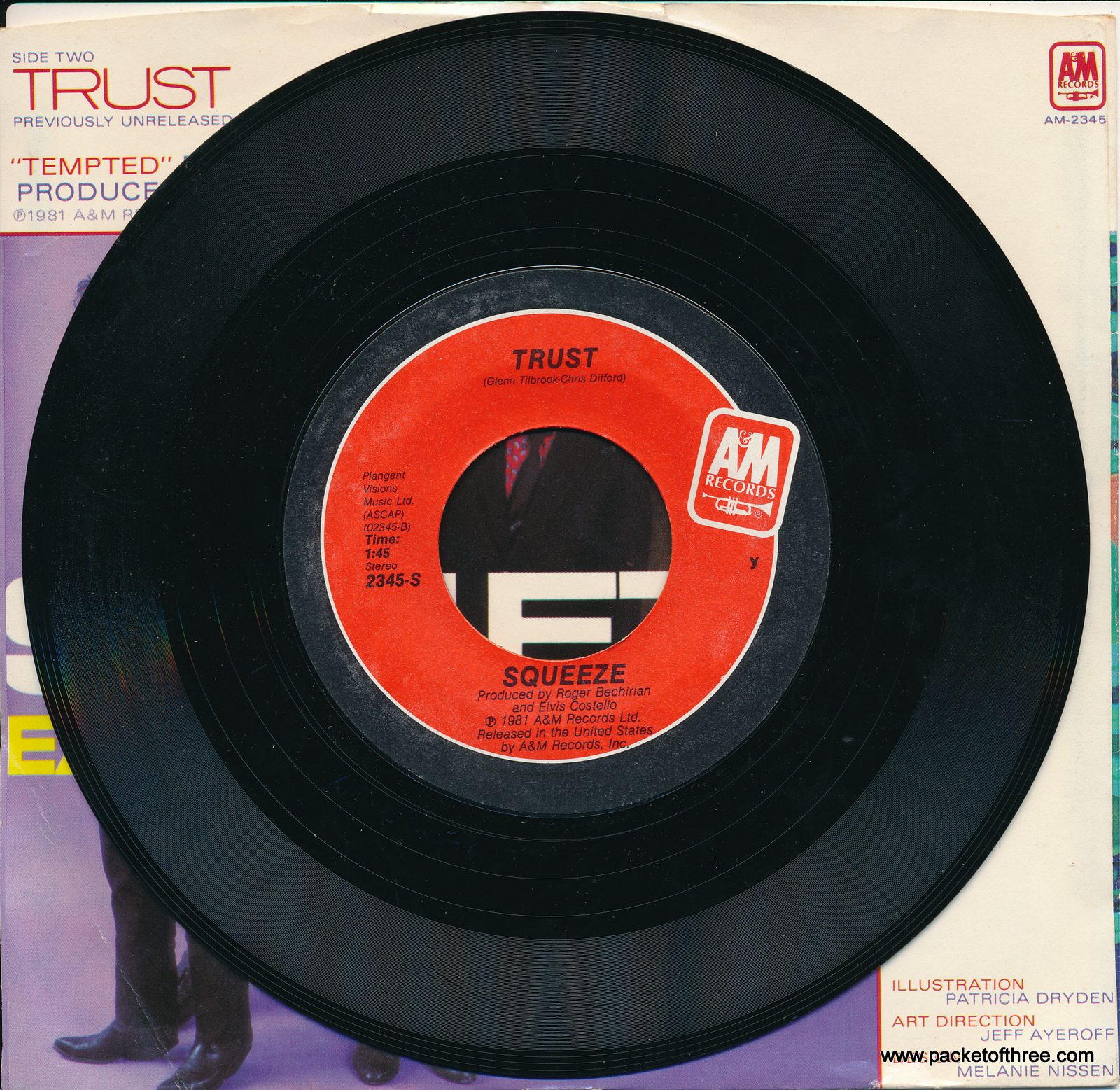 "Tempted - USA - 7"" - picture sleeve - Terre Haute pressing"