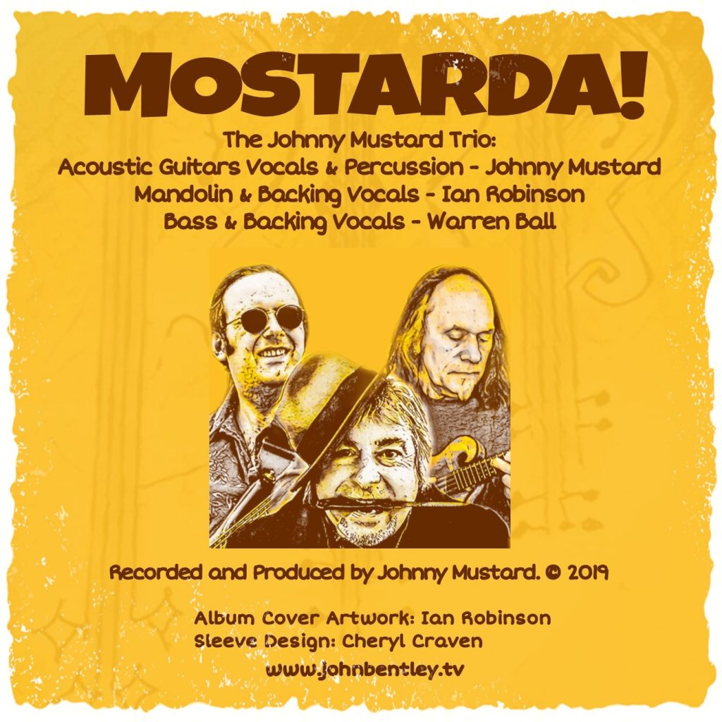 Johnny Mustard Trio - Mostarda! - Back Cover & Album Credits